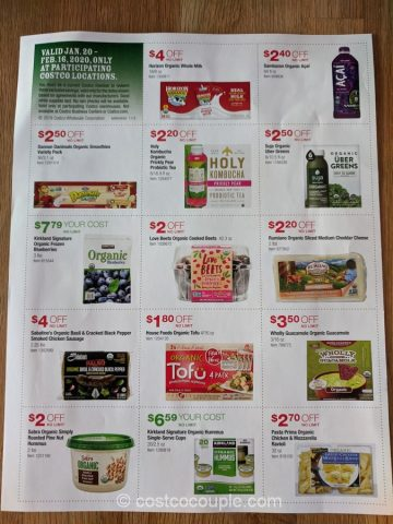 Costco Organic Savings 01/20/20 to 02/16/20