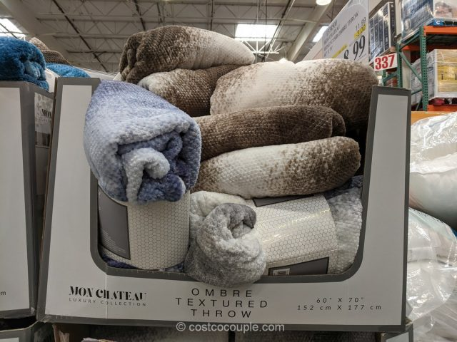 Mon Chateau Ombre Textured Throw Costco