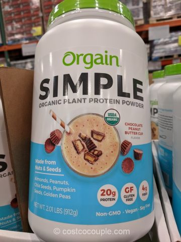 Orgain Simple Organic Chocolate Peanut Butter Cup Protein Powder Costco