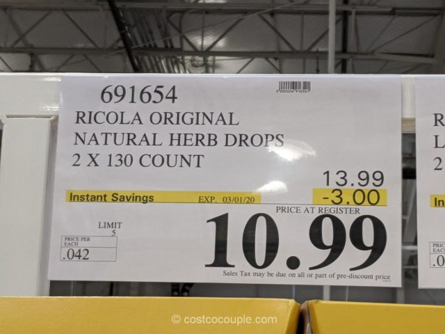 Ricola Original Natural Herb Cough Drops Costco