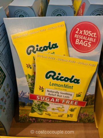 Ricola Sugar Free Lemon Mint Cough Drops Costco