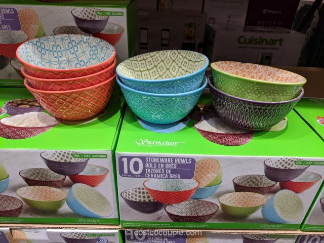 Signature Housewares Stoneware Bowl Set Costco