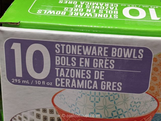 Signature Housewares Stoneware Bowl Set Costco
