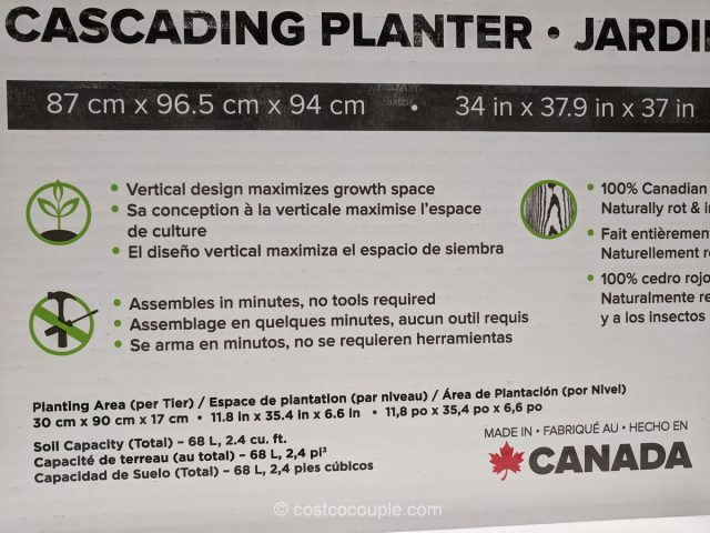 Cedar Craft Cascading Planter Costco