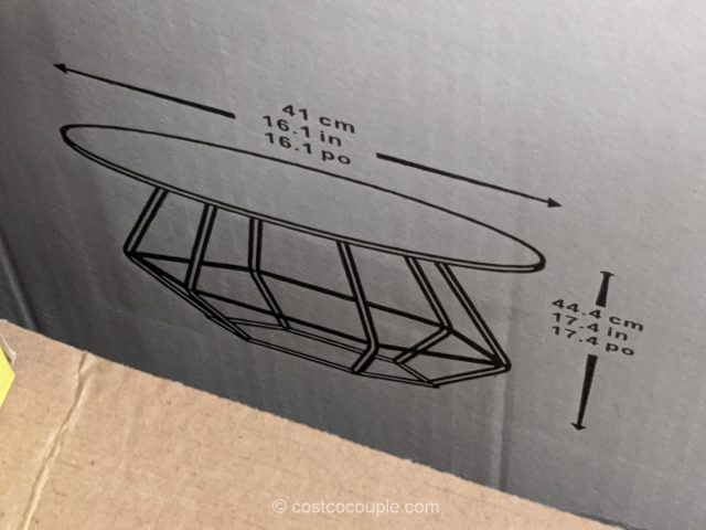 Geometric Outdoor Table Set Costco