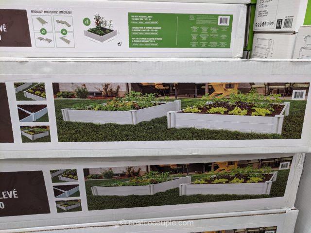 White Vinyl Raised Garden Bed Costco