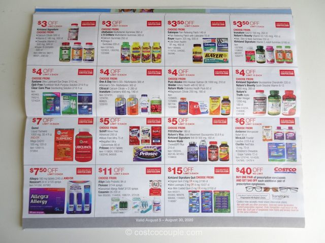 Costco August 2020 Coupon Book 08/05/20 to 08/30/20