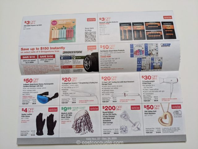 Costco's December 2020 Coupon Book is valid from Monday, 11/23/20 to Thursday, 12/24/20.