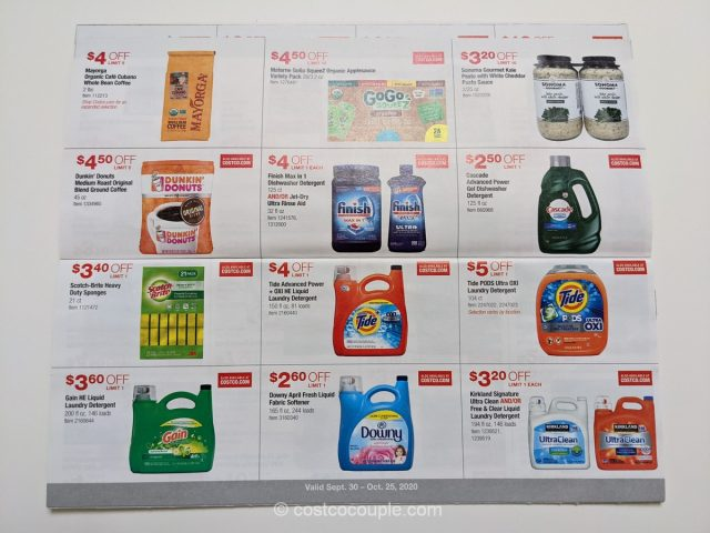 Costco October 2020 Coupon Book 09/30/20 to 10/25/20