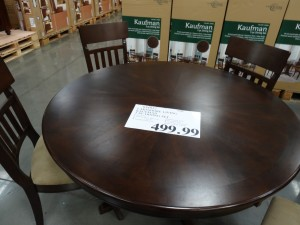 Dining table at Costco