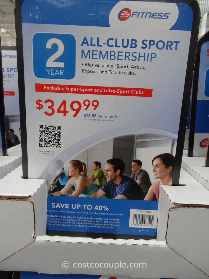 Gift Card 24 Hour Fitness All Club Sport Membership Costco 1