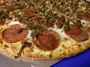 Costco pizza closeup