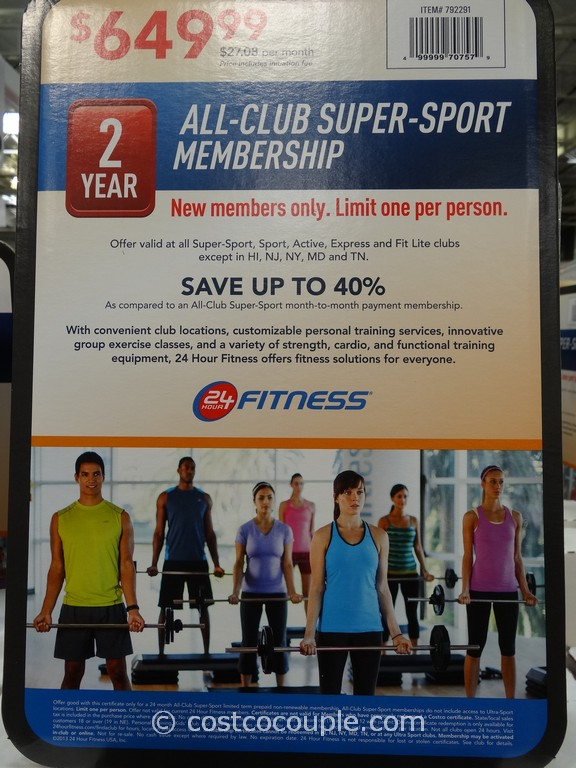 24 Hour Fitness 2 Year All Club Super Sport Membership