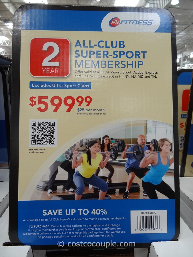 Gift Card 24 Hour Fitness Super Sport Membership Costco 1