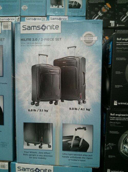 Samsonite spinner luggage set Costco