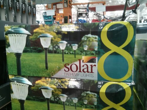 Solar Pathway lights at Costco