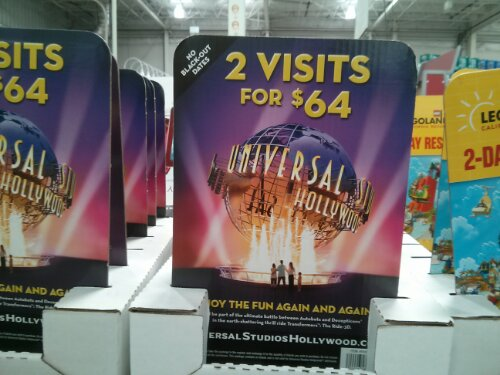 Universal Studios discount ticket Costco
