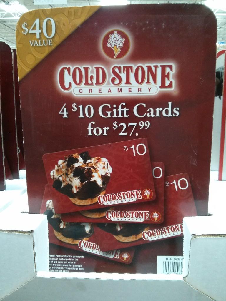Gift Card Cold Stone Costco