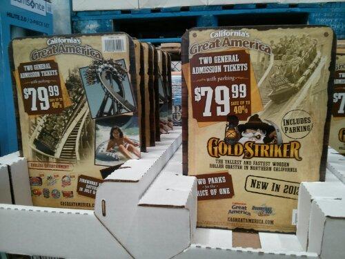 Great America & Boomerang Bay discount ticket Costco