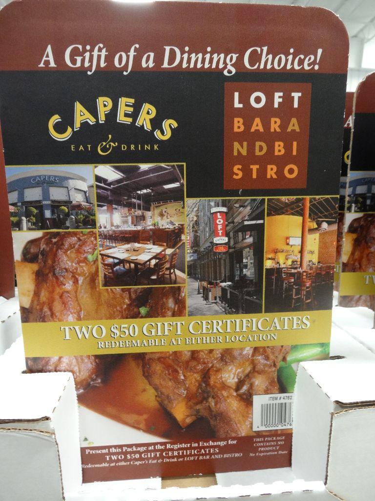 Gift Card Capers Loft Costco