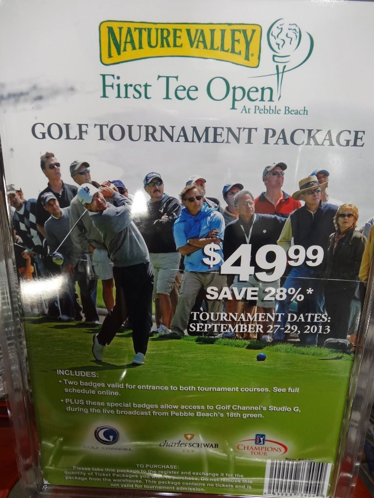 Gift Card Pebble Beach Nature Valley First Tee Open Costco