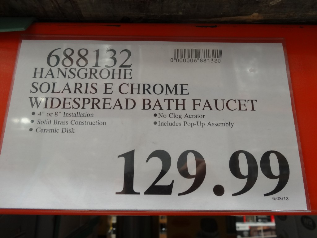 Hansgrohe Solaris E Chrome Bath Faucet Costco