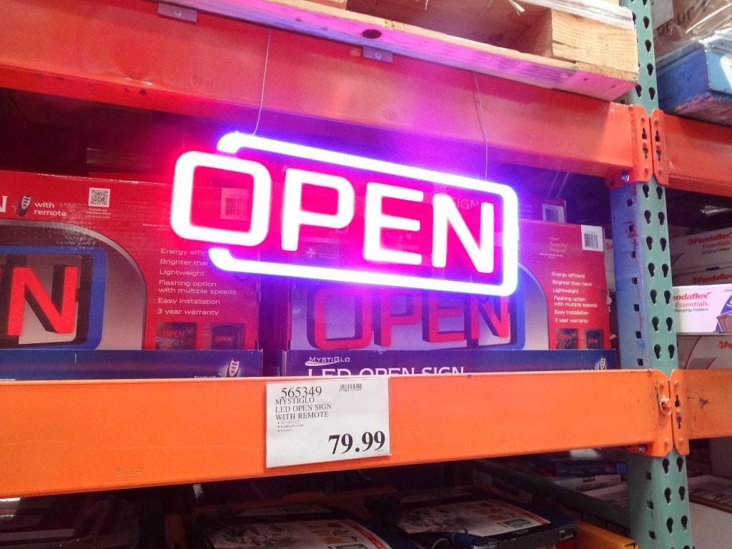 Mystiglo LED Open Sign Costco