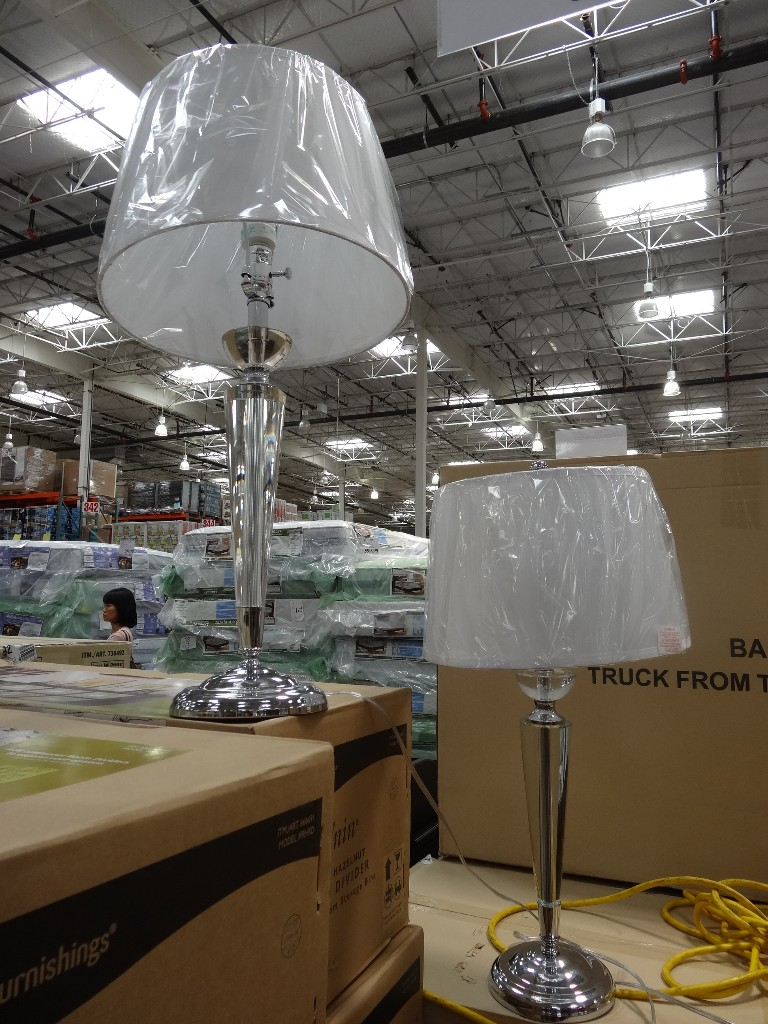 Normande Serenity Collection Crystal Lamp Set Costco