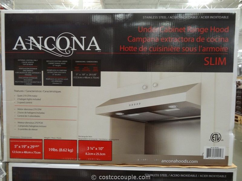 Ancona Slim Stainless Steel Hood Costco