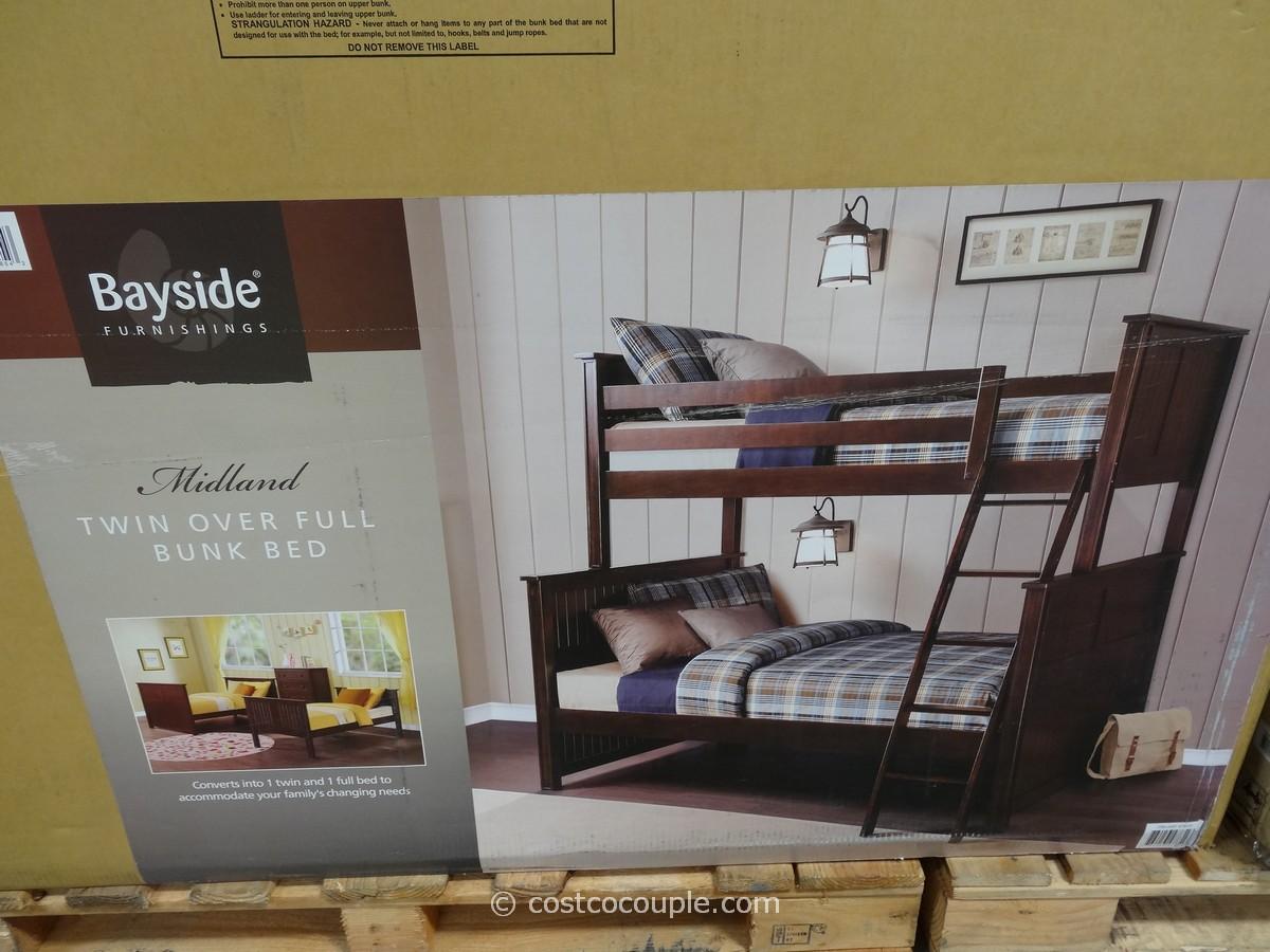 Bayside Furnishings Midland Twin Over Full Bunkbed Costco