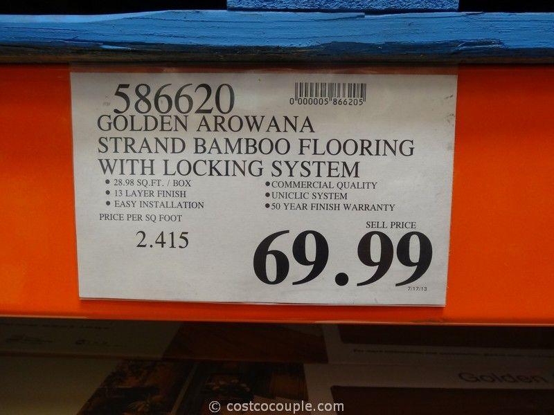 Golden Arowana Strand Woven Bamboo Flooring Costco