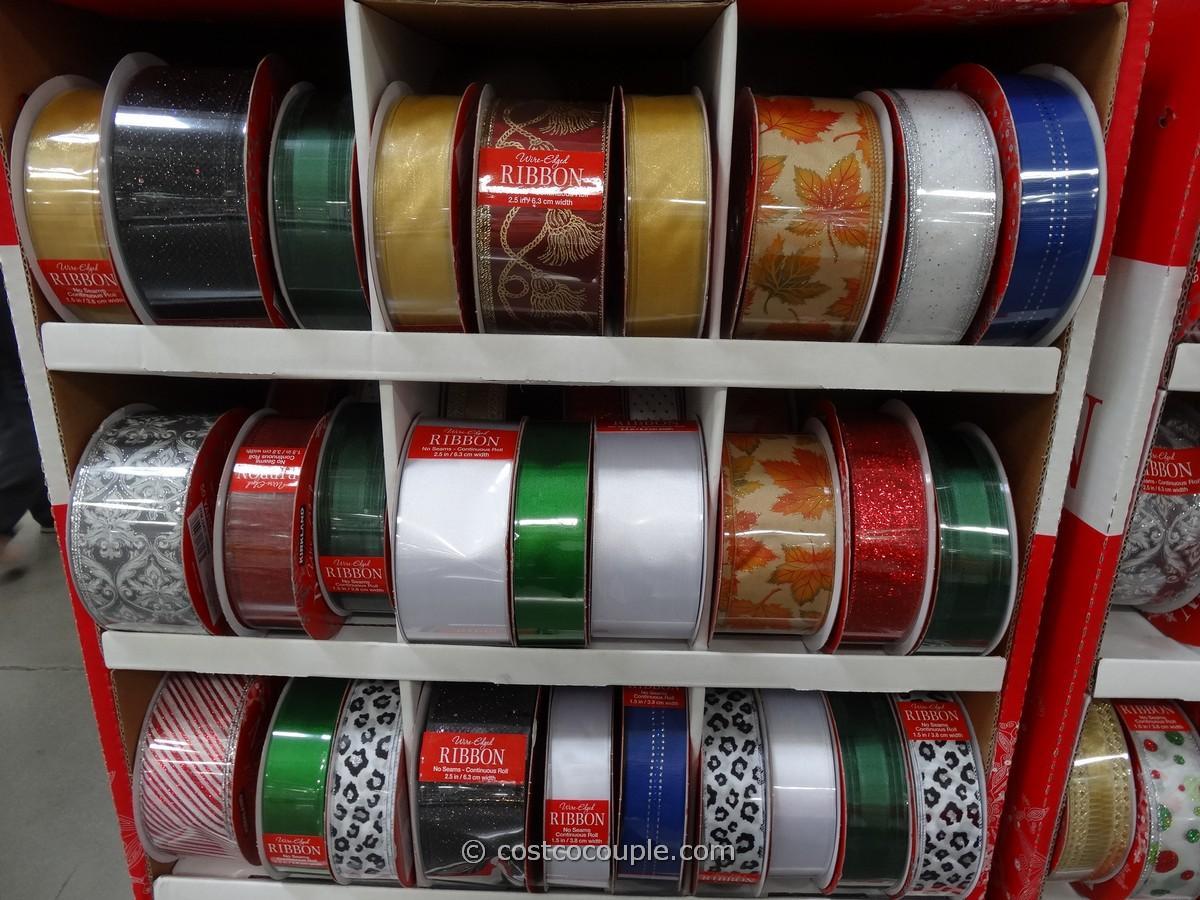 Costco Christmas Ribbon 2019 Kirkland Signature Wire Edged Ribbons