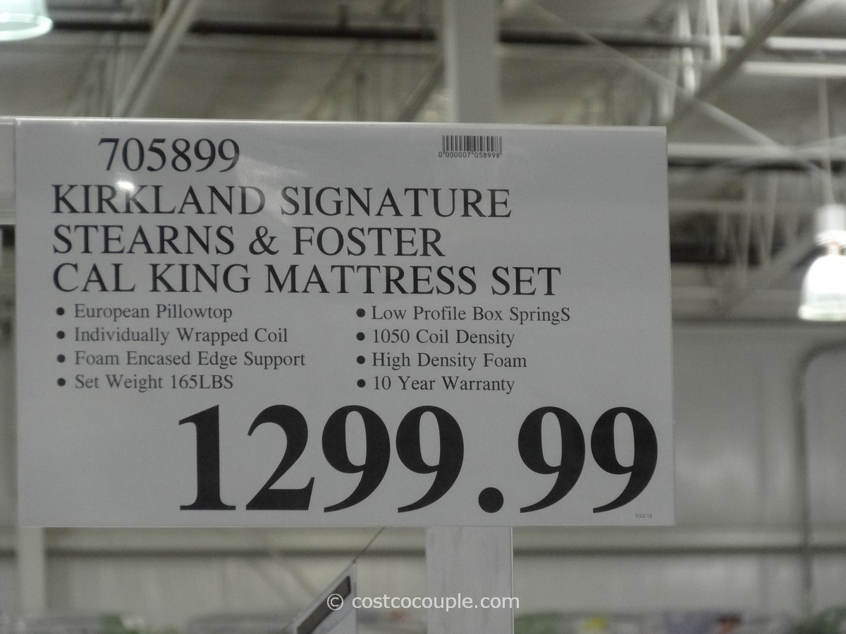 Kirkland Signature Sterns And Foster San Remo Cal King Mattress Costco 1