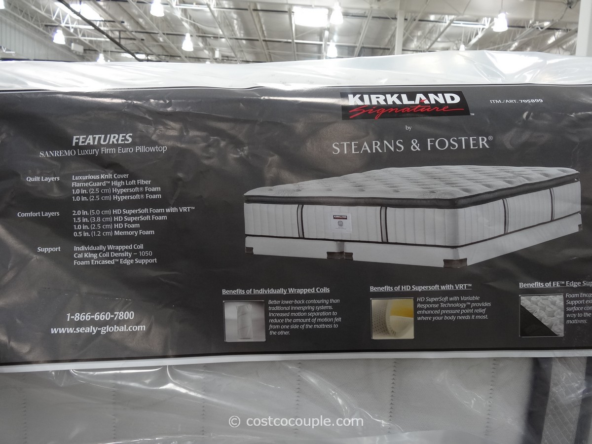 Kirkland Signature Sterns And Foster San Remo Mattress Costco