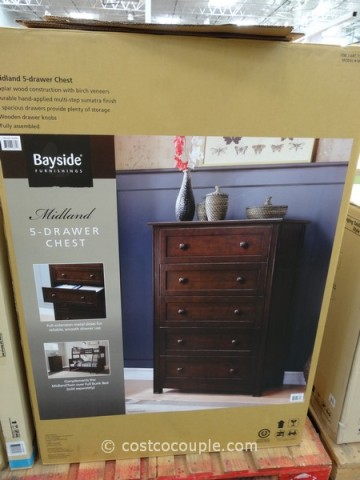 costco chest of drawers bayside furnishings midland 5 drawer chest 15021