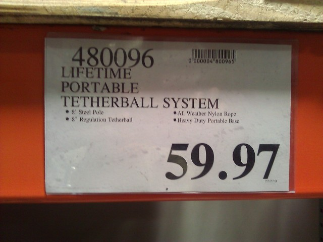 Lifetime Portable Tetherball System Costco