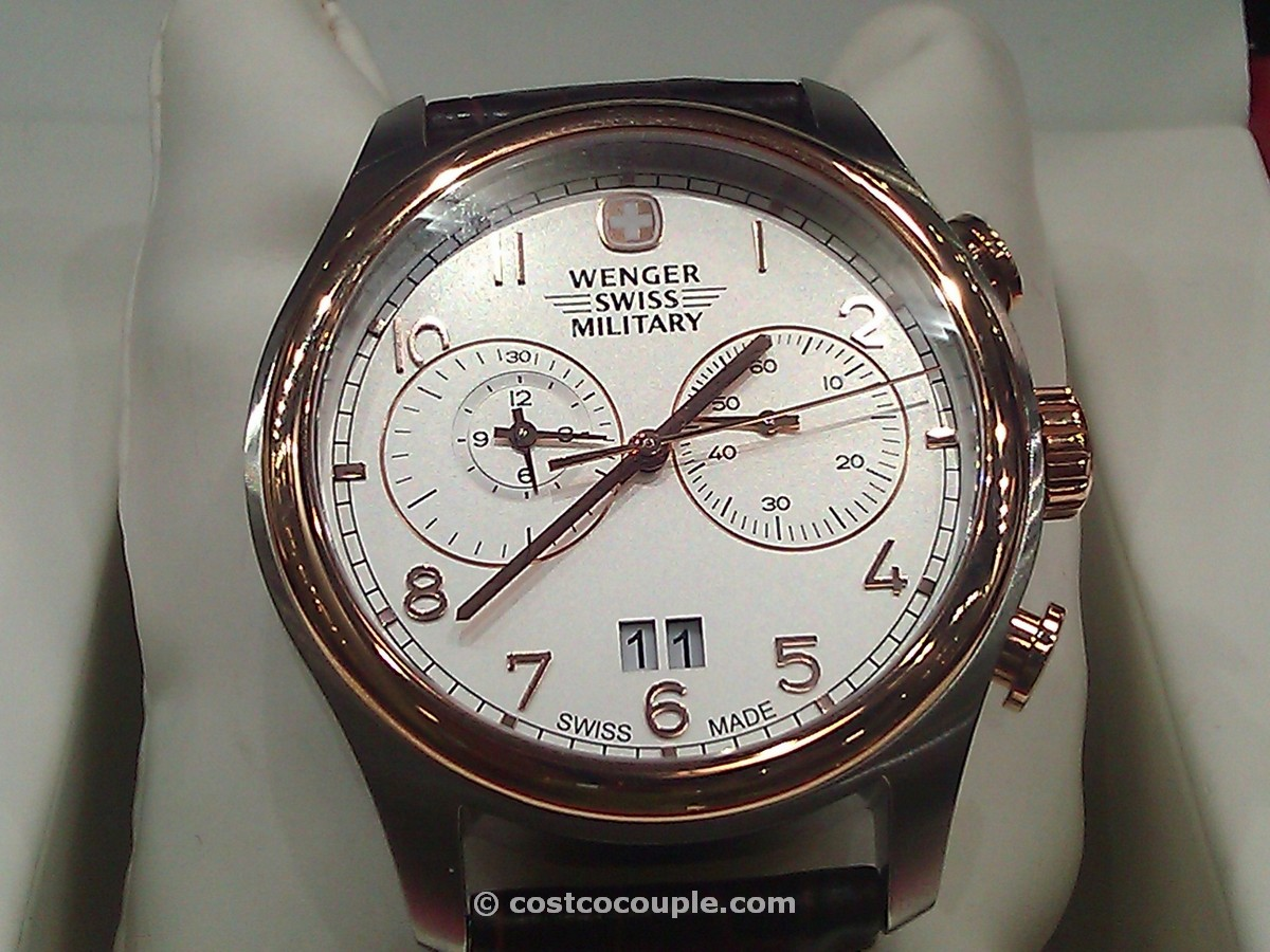 Wenger Swiss Military Rose Gold Chronograph Costco