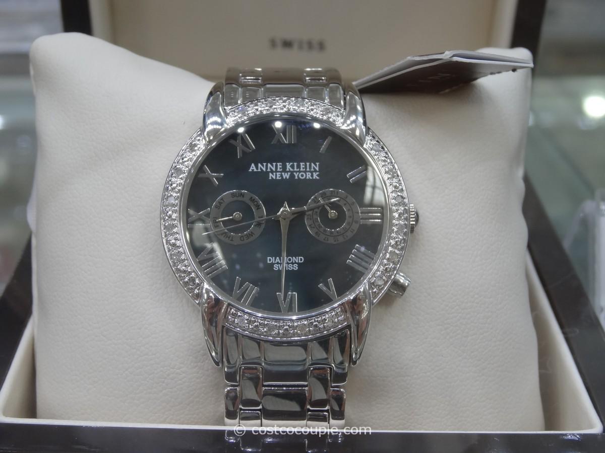 Anne Klein Diamond Bezel Watch Costco