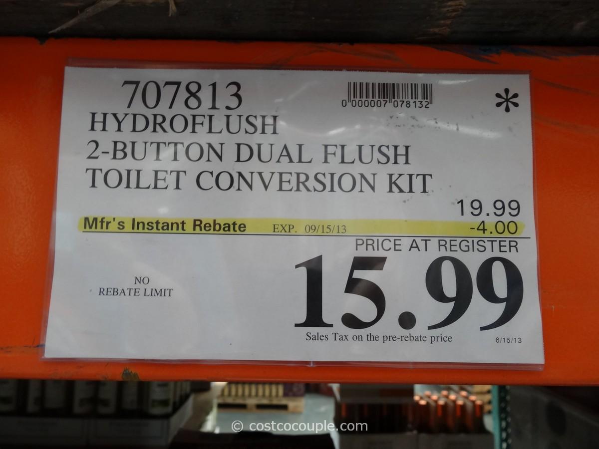 Hydroflush Dual Flush Toilet Conversion Kit Costco 1