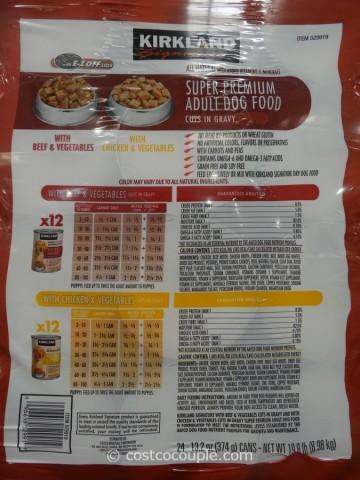 Kirkland Signature Cuts and Gravy Dog Food