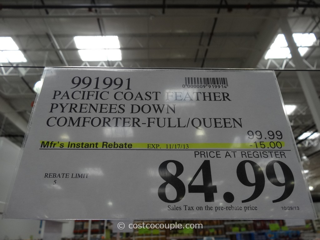 Pacific Coast Down Comforter Full Queen Costco 1