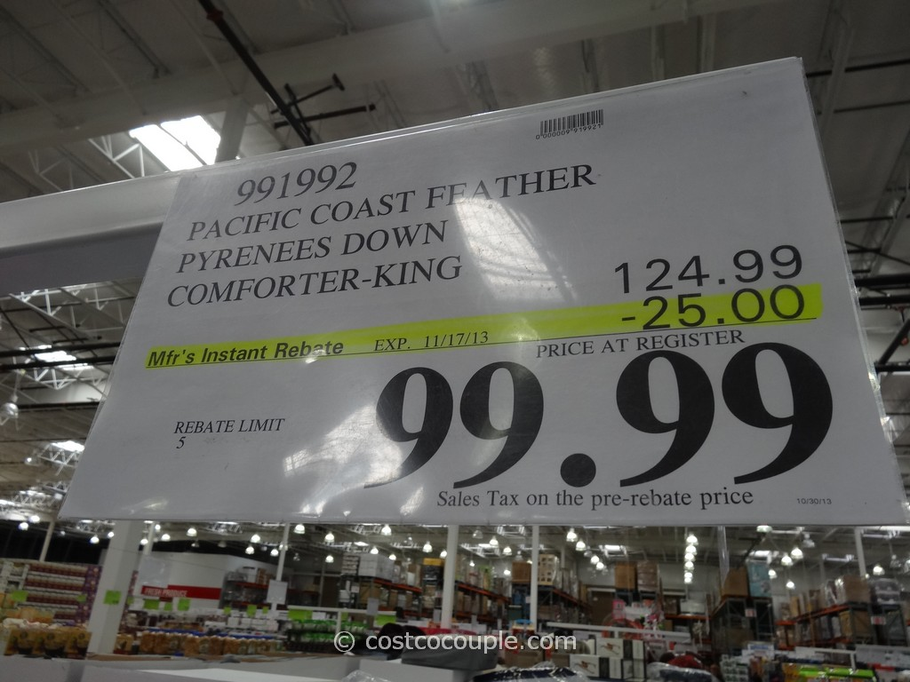 Pacific Coast Down Comforter King Costco 2