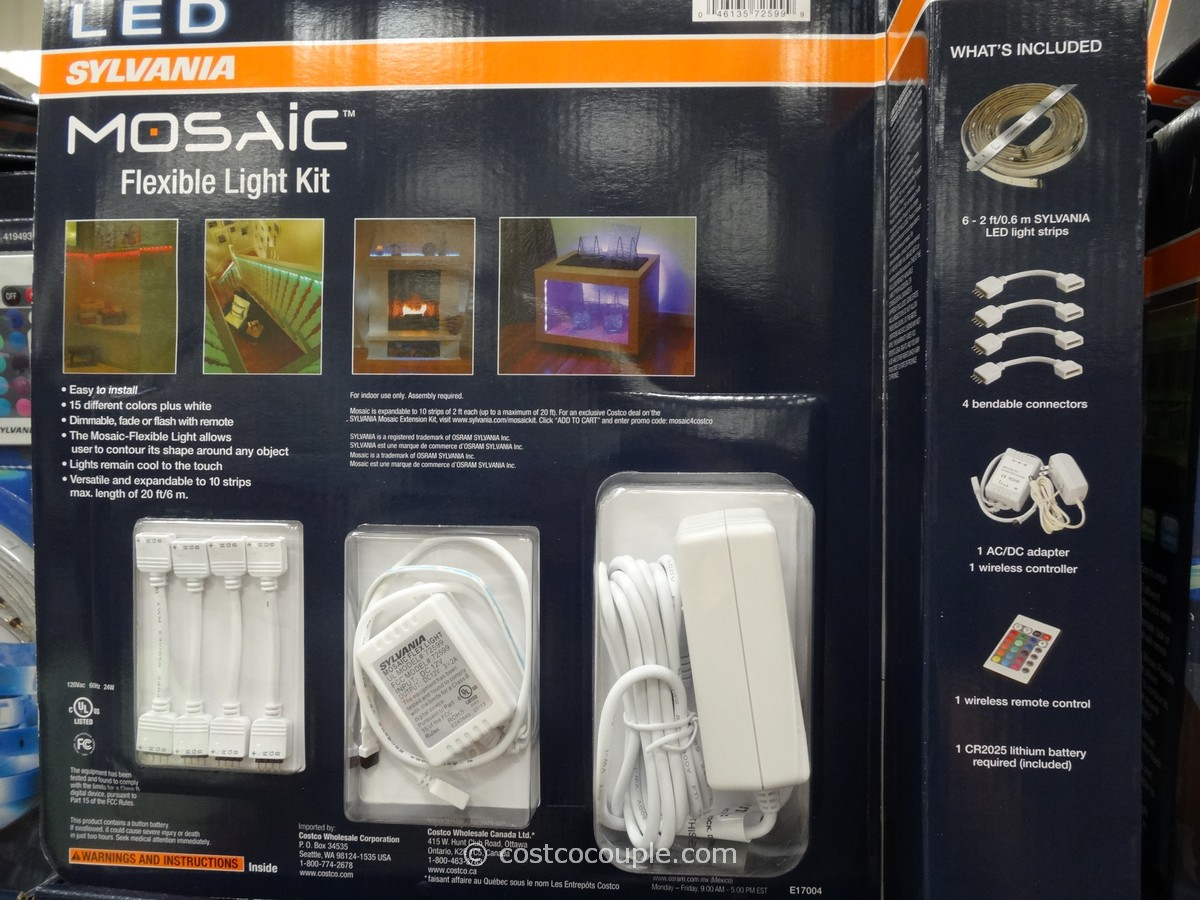 Mosaic outdoor indoor flexible led light strip kit outdoor lighting sylvania led strip lights costco lightneasy net aloadofball Choice Image