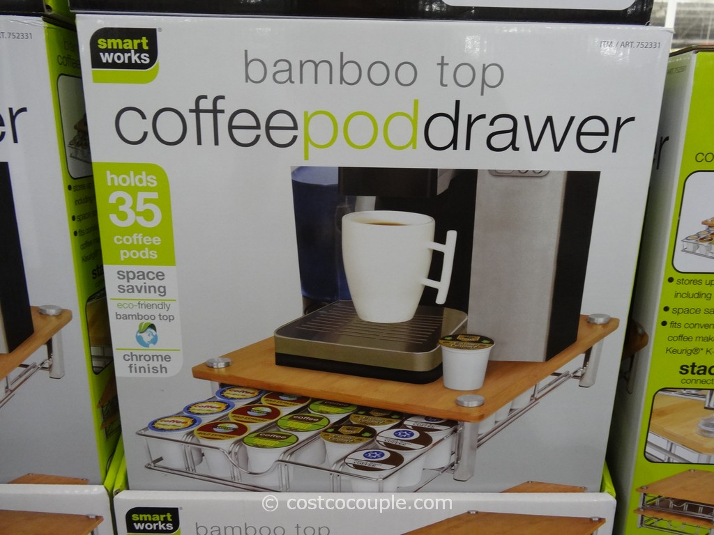 SmartWorks Bamboo Top Coffee Pod Drawer
