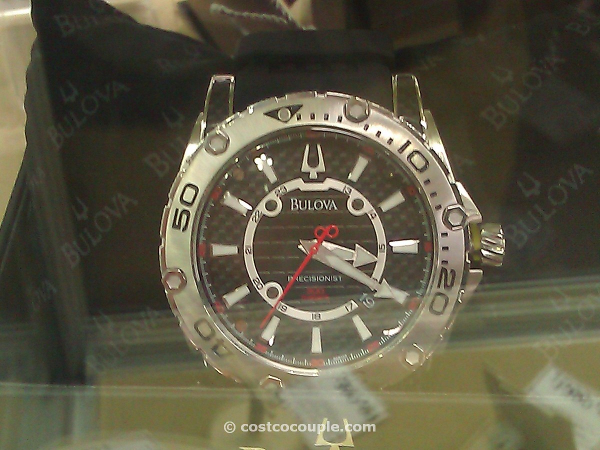 Bulova Precisionist Black Rubber Strap Mens Watch Costco 1