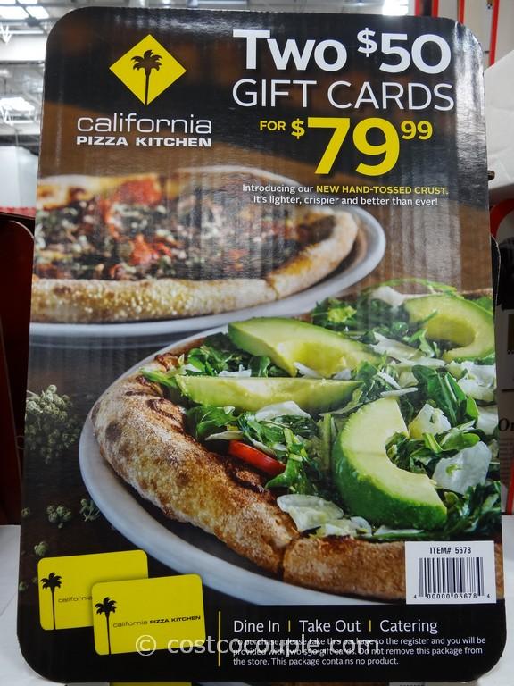 California Pizza Kitchen Gift Card Costco