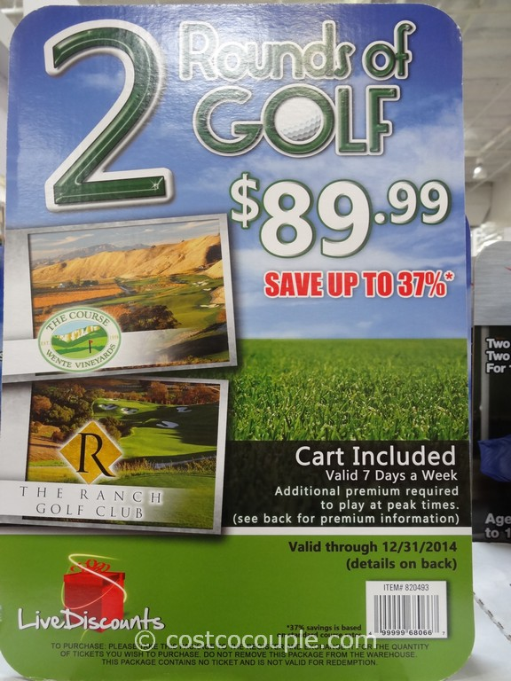 Gift Card Live Discounts 2 Rounds of Golf Costco 1