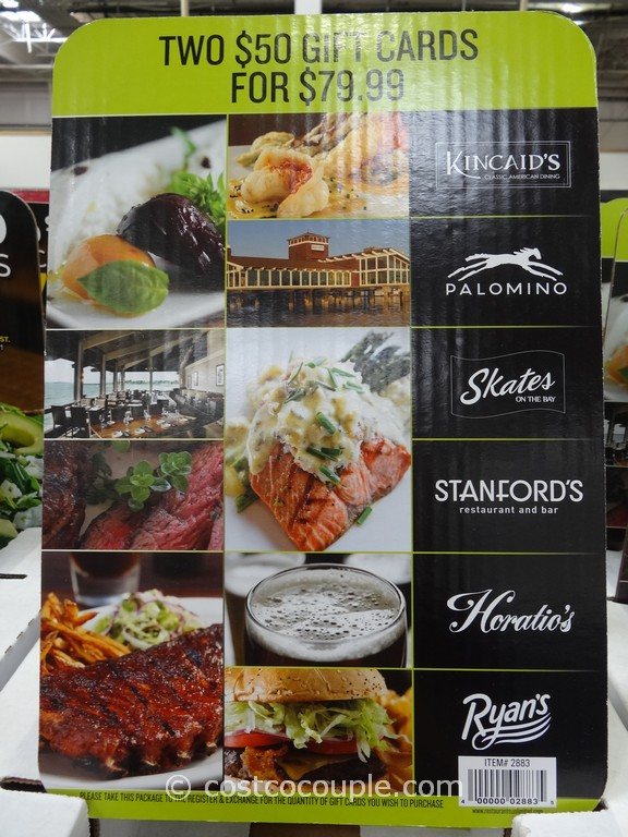 Gift Card Restaurants Unlimited Costco 3