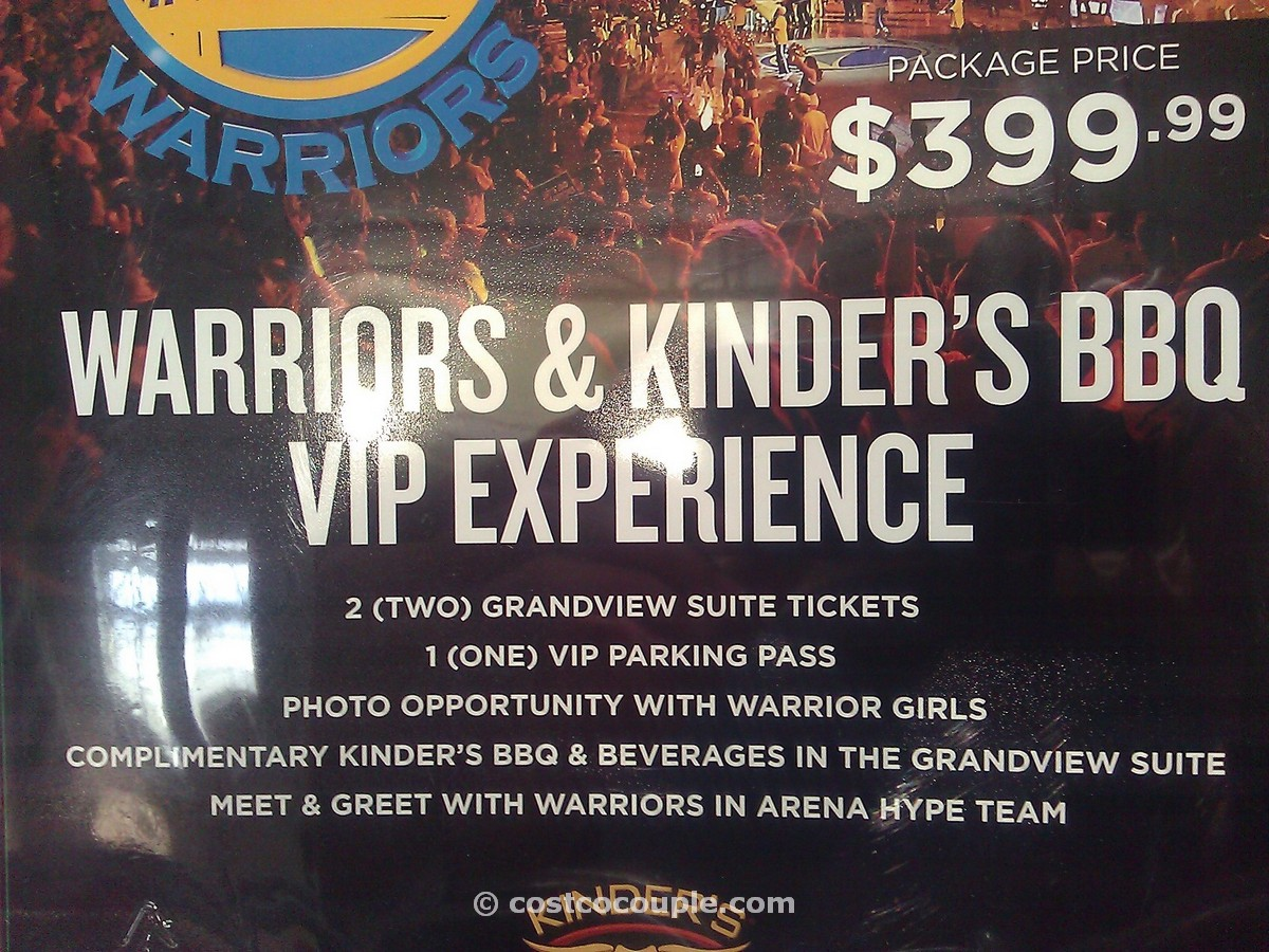 Golden State Warriors VIP Package for 2 Costco 2