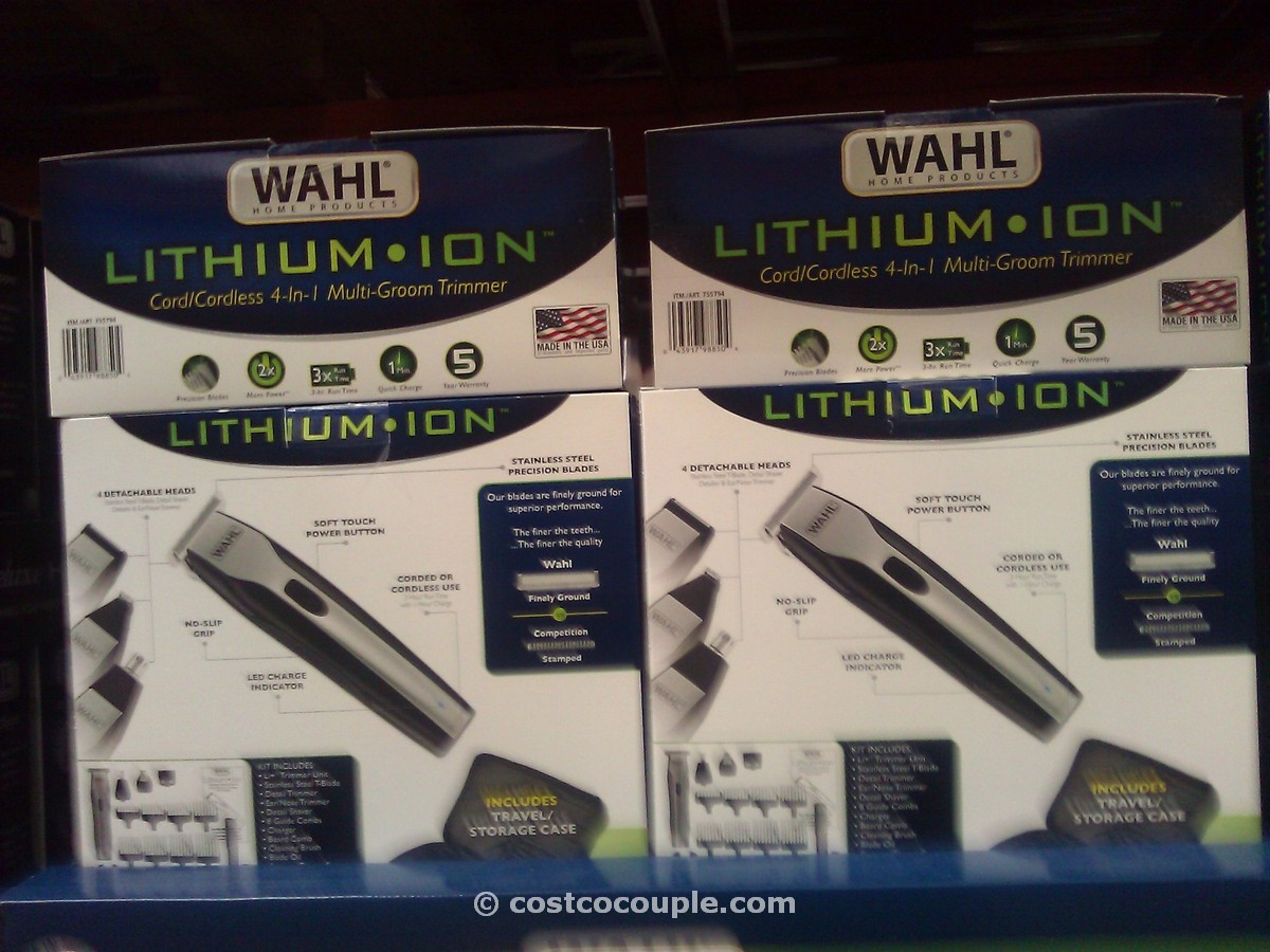 Wahl 4 in 1 Trimmer with Lithium Ion Costco 3
